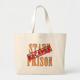 State Prison Escapee Halloween Humor Large Tote Bag