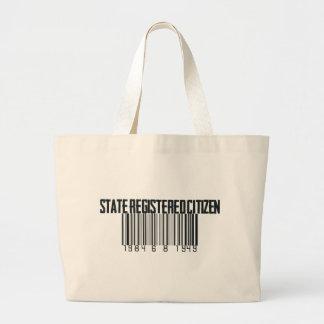 State Registered Large Tote Bag
