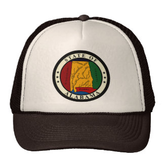 STATE SEAL OF ALABAMA TRUCKER HAT
