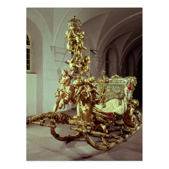 State sleigh of Ludwig II  built 1872-80 Postcard