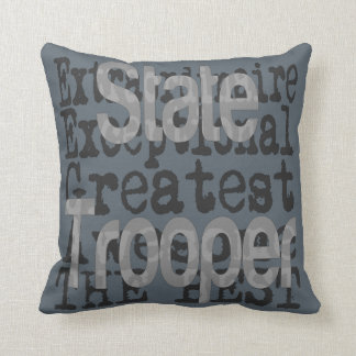 State Trooper Extraordinaire Throw Pillow
