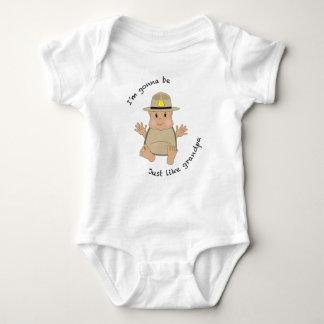 State trooper grandpa baby bodysuit