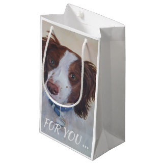STATELY AUBURN SETTER MIX SMALL GIFT BAG