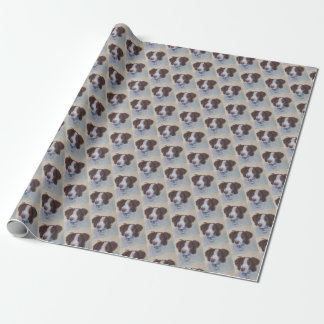 STATELY AUBURN SETTER MIX WRAPPING PAPER