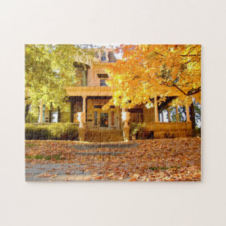 Stately Home Fall Tree View jigsaw puzzle