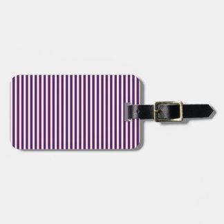 Stately Patriotic Stripes Luggage Tag