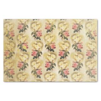 Stately Vintage Floral Tissue Paper