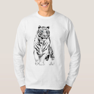 Stately White Tiger Shirt