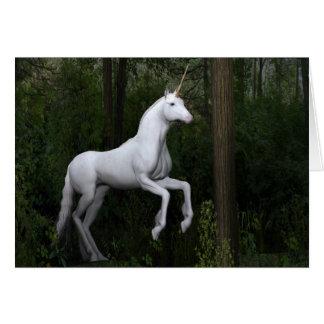 Stately White Unicorn Card