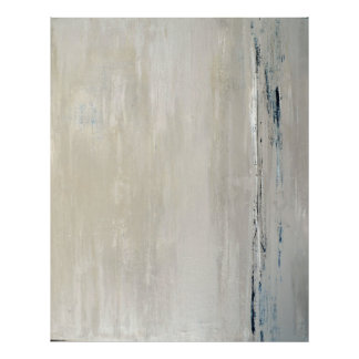 'Statement' Beige Abstract Art Poster Print