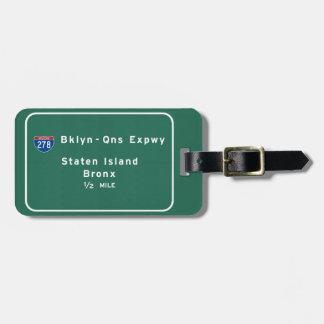 Staten Island Bronx Interstate NYC New York City Bag Tag