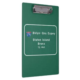 Staten Island Bronx Interstate NYC New York City Clipboards