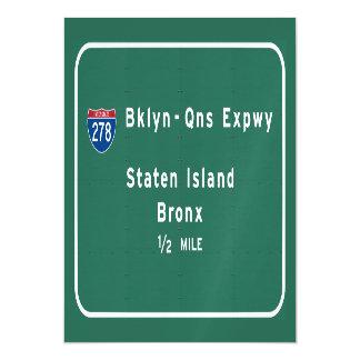 Staten Island Bronx Interstate NYC New York City Magnetic Invitations