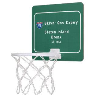 Staten Island Bronx Interstate NYC New York City Mini Basketball Hoop