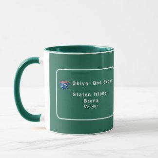 Staten Island Bronx Interstate NYC New York City Mug