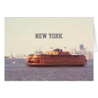 Staten Island ferry, New York Card
