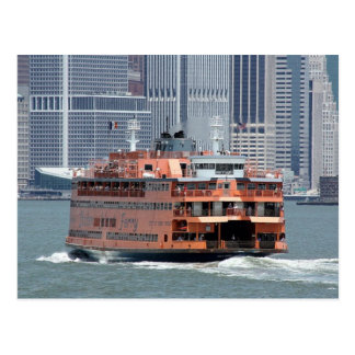 Staten Island Ferry New York Harbor Post Card