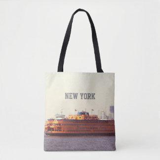 Staten Island ferry, New York Tote Bag