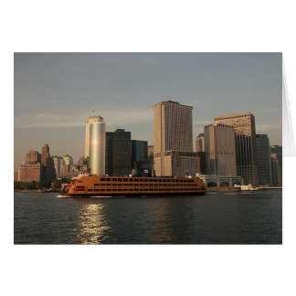 Staten Island Ferry Twin Towers In Memoriam view Card