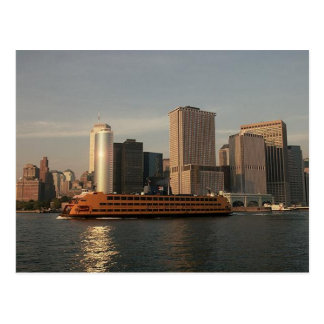 Staten Island Ferry & Twin Towers In Memoriam view Postcard