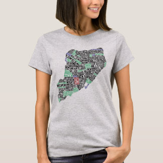 Staten Island NY Typography Map Tee
