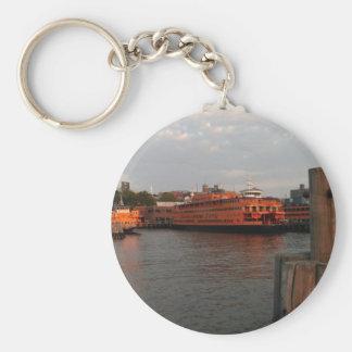 Staten Island Sunrise Basic Round Button Keychain
