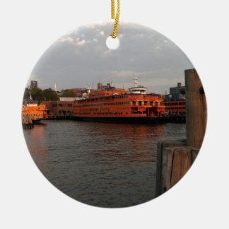 Staten Island Sunrise Ceramic Ornament
