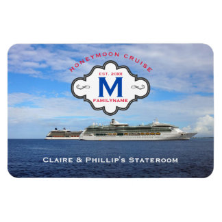 Stateroom Door Marker Honeymoon Cruise Family Logo Magnet