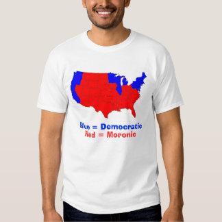 states, Blue = Democratic, Red = Moronic T Shirts