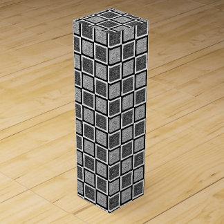 Static Black and White Squares Wine Box