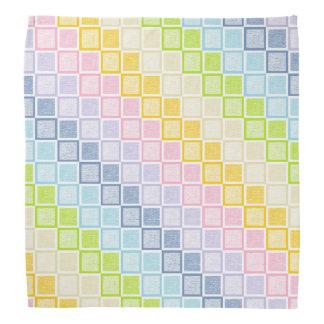 Static Pastel Rainbow Squares Kerchiefs