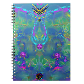 Static Stunning Abstract Spiral Notebooks
