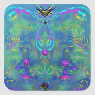 Static Stunning Abstract Square Sticker
