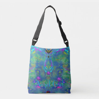Static Stunning Abstract with Your Text Crossbody Bag