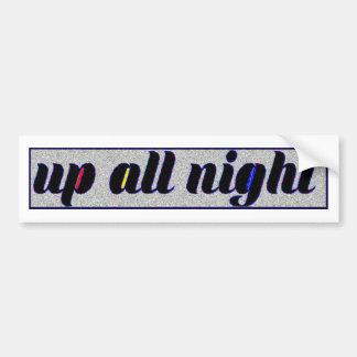 Static Tri Up All Night Sticker