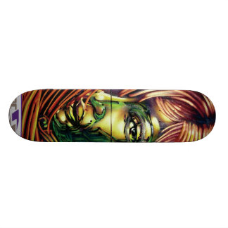 statik spray can skate board deck
