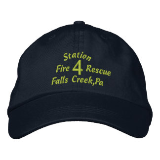 Station, 4, Falls Creek,Pa, Fire, Rescue-Hat Embroidered Baseball Cap