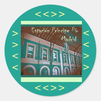 Station Prince Pío of Madrid (Spain) Round Sticker
