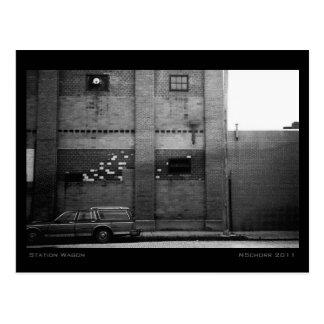 Station Wagon Urban Industrial Cityscape Postcard