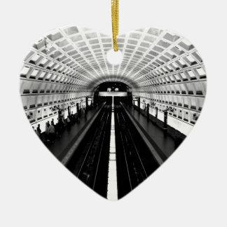 station washington metro train subway ceramic ornament