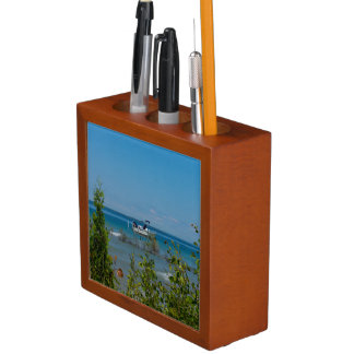 Stationed At Mackinac Desk Organizer