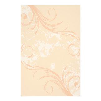 Stationery: Creamsicle Swirl Stationery
