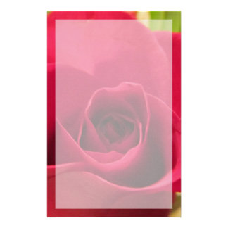"""Stationery--""""Drop Dead Red"""" Rose With Border Stationery"""