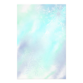 Stationery- Frosty Snowflakes Customized Stationery