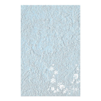 Stationery Old Paper Blue White Floral