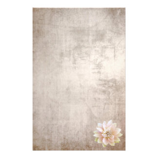 Stationery Old Paper Pink Lotus Flower
