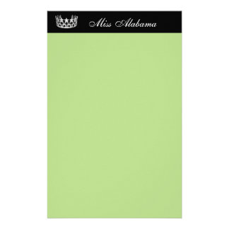 Stationery Paper-Pageant Crown & Title