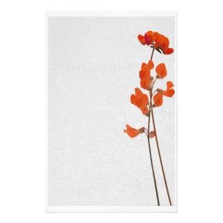 Stationery red flowers büropapiere