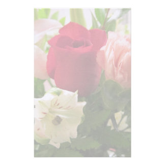 Stationery--Red Rose & Lilies Transparent Stationery Paper