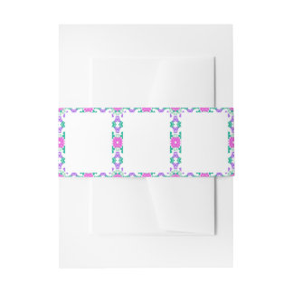 Stationery with Decorative Borders Invitation Belly Band